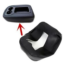Leather Armrest Console Lid Top Cover for 07-14 Silverado Tahoe Sierra Black