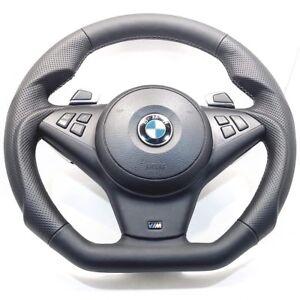 CUSTOM BMW E60 E61 E63 E64 Performance Paddle Steering Wheel Suede 550i 650i