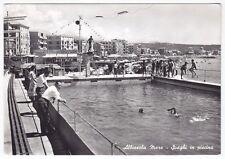 SAVONA ALBISSOLA 65 PISCINA Cartolina FOTOGRAFICA VIAGGIATA 1962