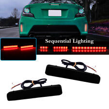 Smoked Rear Bumper Reflectors LED Tail Lights For 12-17 Toyota Prius V Scion tC