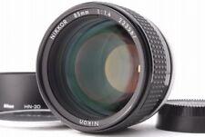【Near Mint】Nikon Nikkor Ai-s 85mm f/1.4 AIS Lens w/Hood from Japan #524