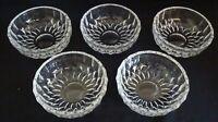 "Val St. Lambert Belgium Imperial Cut Glass Set of 5 Berry Bowls 5"""