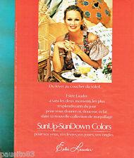 PUBLICITE ADVERTISING 036  1977  Estèe Lauder  maquillage  rouge à lèvres vernis