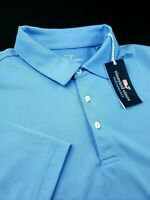 Vineyard Vines Performance Solid Golf Polo Shirt Blue