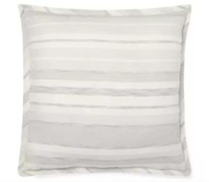 Ralph Lauren Allaire Striped Throw Bed Pillow Linen Cotton Cream Tan