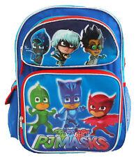 "PJ Masks Large School Backpack 16"" Boys Book Bag Owlette Gekko School Bag"