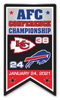 KANSAS CITY CHIEFS 2021 AFC CONFERENCE CHAMPIONSHIP PIN NFL SUPER BOWL LV 55