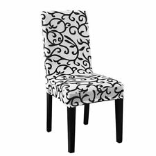Stretchy Dining Chair Cover Short Chair Covers Washable Protector Seat Slip Y7K5