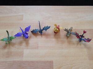 """6 verschiedene Figuren aus """"Drachenzähmen leicht gemacht"""""""
