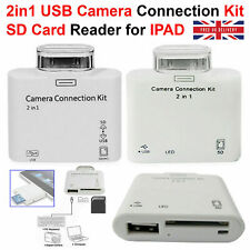 2 in 1 USB Camera Connection Kit Adapter SD Card Reader For iPad iPad 2 Touch UK