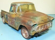 1/18 unrestored, 1955 Chevy truck , weathered , barn find , parts car, junker