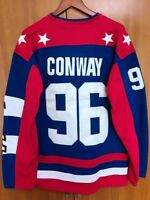 Mighty Ducks D2 Movie Team USA Hockey Jersey #96 Charlie Conway Stitched All