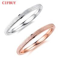 Ringe Frauen Silber & Rose Gold Farbe Ultra Thin 2mm Breite Edelstahl Fingerband
