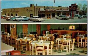 Vintage DEMING, New Mexico Postcard LA FONDA RESTAURANT 2 Views Roadside c1950s