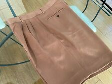 "Men'S Vintage Shorts - Size 40"" Waist - Poly - By ""Como Sport"" - Light Rust"