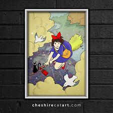 "Studio Ghibli Kiki's Delivery Service Print 13""x19"" Signed"