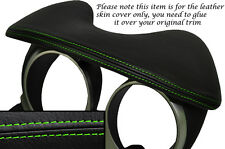 Cuciture verde Speedo HOOD cuoio pelle copertura si adatta NISSAN JUKE 2010-2014
