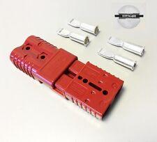 COPPIA Anderson 175amp 600v Plug Cavo Terminale Connettore di alimentazione a batteria-Rosso