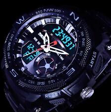 SKM analógico digital pulsera caballero reloj negro chronograph fecha 2 obras B-Ware