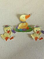 Easter Duck and Chicks - 3 - Iron-On Fabric Appliques.