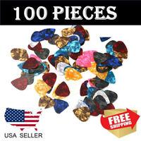 100PCS Guitar Picks Celluloid Thin Acoustic Electric Plectrums Assorted Color