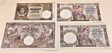 FOUR SERBIA DINARA NATIONAL WWII BANK NOTES-0NE 50-TWO 500-ONE 1000-VERY CRISP