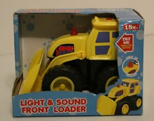 Fun Stuff Light & Sound Front Loader Toy Vehicle 18 Months and upNew