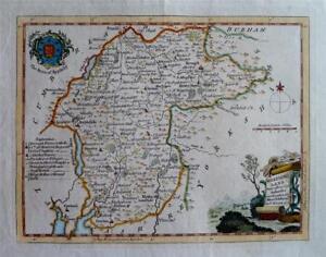 WESTMORELAND - Fine Original Hand-Coloured Antique Map by Thomas Kitchin, c1780