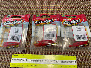 3 New Packages Berkley Gulp! Ice Waxies Red 30 Ct Each