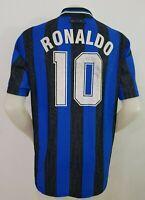 MAGLIA CALCIO SHIRT INTER RONALDO 1997/1998 FOOTBALL ITALY SOCCER JERSEY OLD I76