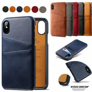 For iPhone 12mini 11 Pro XR X Samsung S20FE Leather Wallet Credit Card Slot Case