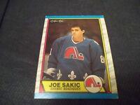 1989-90 OPC O-Pee-Chee #113 Joe Sakic Rookie Nordiques - vg