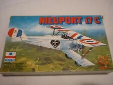 A vintage Esci un built plastic kit of a Nieuport 17C, Boxed