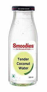 Smoodies Pure Tender Coconut Water, 100% Natural - No added Sugar, 200 ML