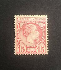 Monaco 1885 LMM Mint Prince Charles 3rd No gum Rose SG5