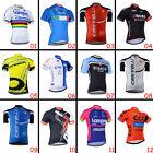 Fashion Mens Riding Tops Wear Cycling Short Sleeve Jerseys Shirt 3 Pockets Gear