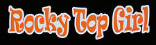 "TENNESSEE VOLUNTEERS ROCKY TOP GIRL AUTO GLASS WINDOW  4"" X 7"" DECAL STICKER"