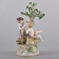 Meissen Figur Putto am Schleifstein, Amor Liebespfeile schleifend 1.Wahl um 1860