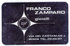 ADESIVO/STICKER * FRANCO ZAMPARO gioielli - ROMA via dei Castani, 66 -