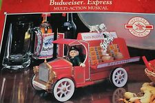 NEW RARE Enesco Budweiser Beer Express Truck Multi-Action Music Box NIB