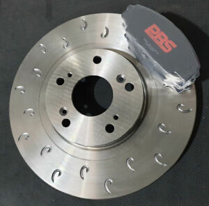 Civic Type R EP3 01-05 Performance MTEC C Hook Front Brake Discs Pads PBS Track