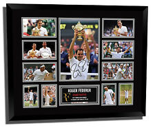 ROGER FEDERER 2017 WIMBLEDON WINNER SIGNED LIMITED EDITION FRAMED MEMORABILIA