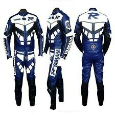*YAMAHA-R-Motorcycle Racing Leather Suit-MotoGp-CE Approved Protectors*