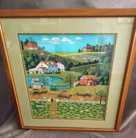 Charles Wysocki Jolly Hill Farms Framed Signed limited Print #259/1000