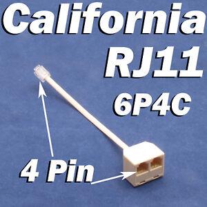 RJ11 Jack 2 Way Outlet Telephone Phone Modular Line Splitter Plug Adapter 6P4C