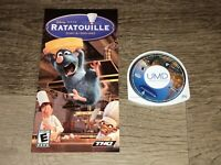 Ratatouille PlayStation Portable PSP w/Manual Authentic