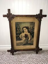 """Original Currier & Ives Type Print By Kellogg """"Mary And Her Little Lamb"""""""