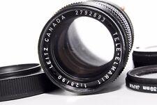 Leitz CANADA Tele ELMARIT M 90mm F/2.8 Leica W/ Cap Filter Hood FROM JAPAN #68
