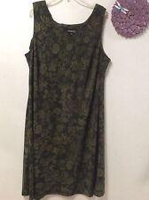Women's dress STUDIO I size 22 W shades of green sleeveless 148