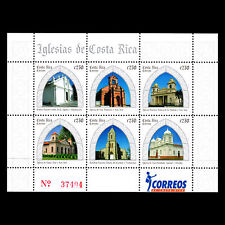 Costa Rica 2008 - Churches of Costa Rica Architecture Religion - Sc 616 MNH
